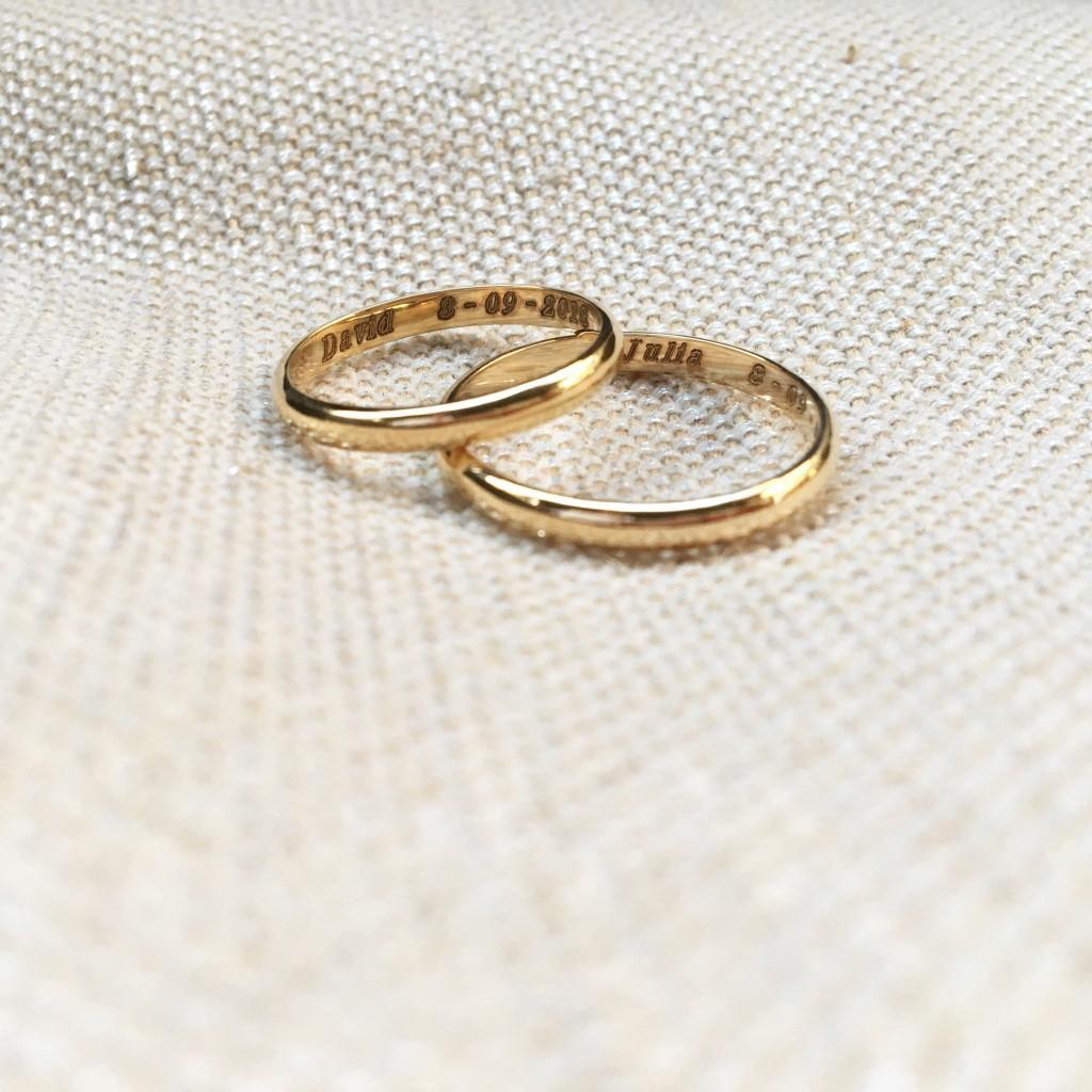 alianzas de oro hechas a mano